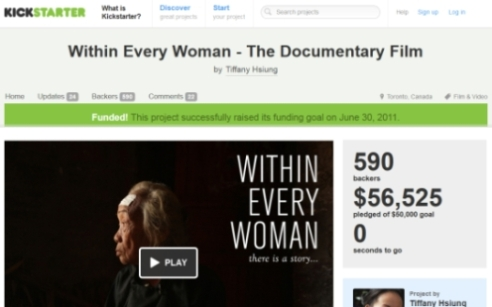 Kickstarter campaign online