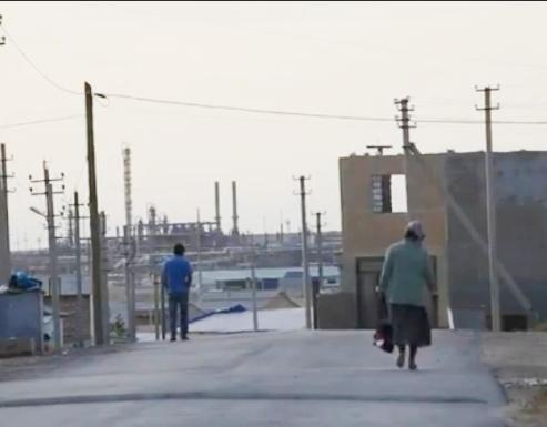 Kazakhstan refinery town