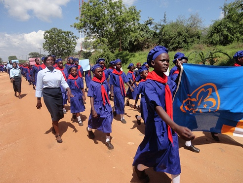 Kenya Girl Guides Association 'stop FGM' rally