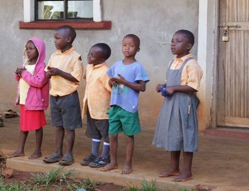 Child orphans in Lwala, Kenya