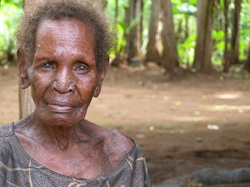Woman elder in Papua New Guinea