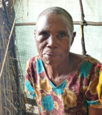 Refugee grandmother Domatila