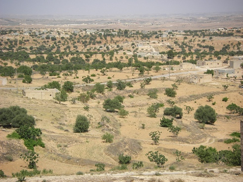 2009 photo image of western mountain region of Libya where conflict has been rising in 2013
