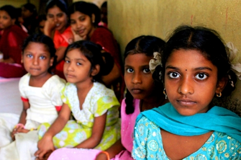 Girl teenagers from South Asia
