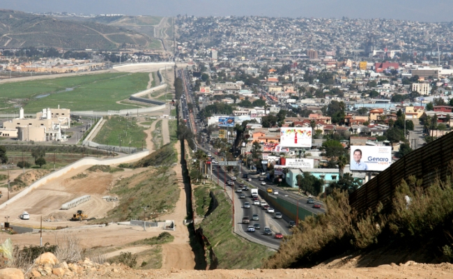 Tijuana, Mexico border with San Diego Border Patrol area