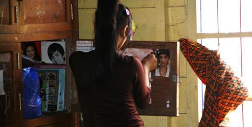 Cambodian teenage girl human trafficking survivor