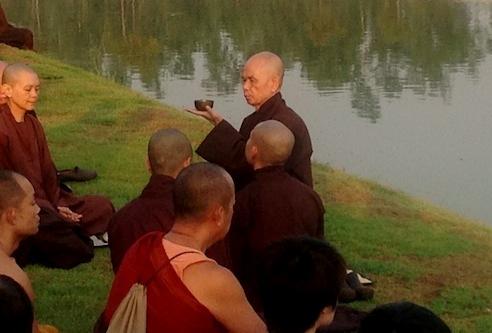 Thích Nhất Hạnh teaching at Plum Village