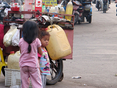 Children on streets of Phnom Penh, Cambodia