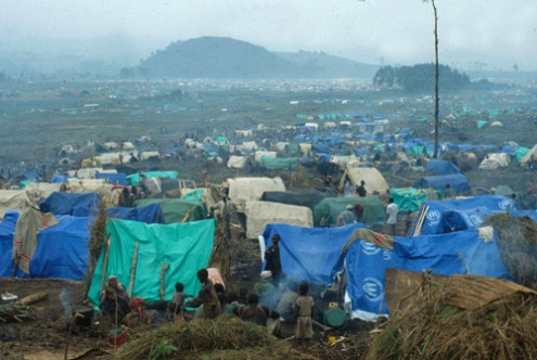 East Zaire refugee camp for Rwandans in 2009
