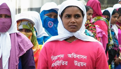Migrant women garment workers