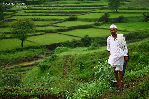 Pune, India farmer
