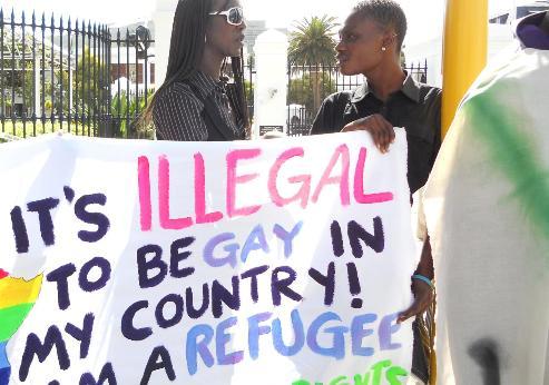 Ugandan displaced refugee gay men