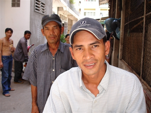 Cambodian men who have been trafficked
