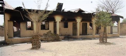 Borneo State, Nigeria schoold destroyed by fire