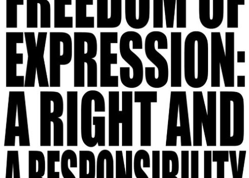 Freedom of expression banner
