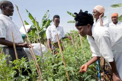 Burundi women's farming class
