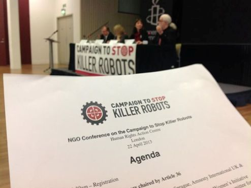 Campaign to Stop Killer Robots launch agenda paper