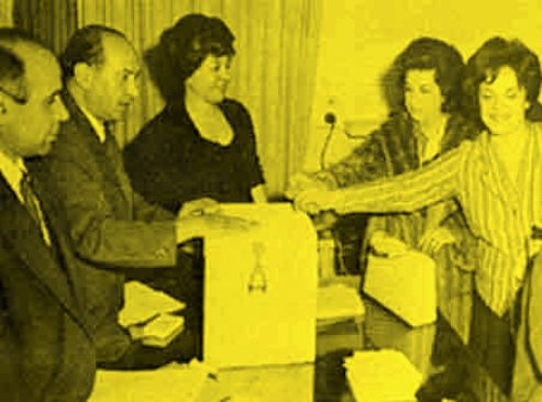 1962 Tehran women voting