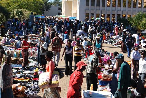 Outdoor street market Bulawayo, Zimbabwe
