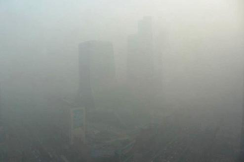 Extreme air pollution seen in downtown Beijing