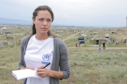 Angelina Jolie working for UN Emergency Response