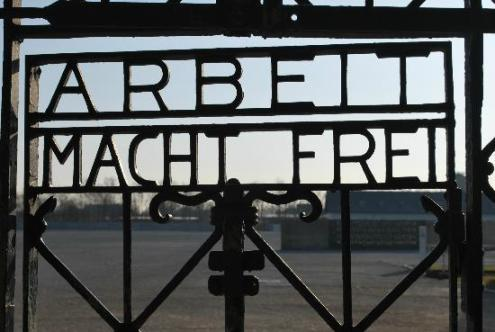 Gate at the Dacau Concentration Camp