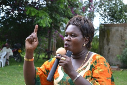 Member of Parliament in Kenya Ms Denitta Ghati (a strong supporter of stop climate change policy)