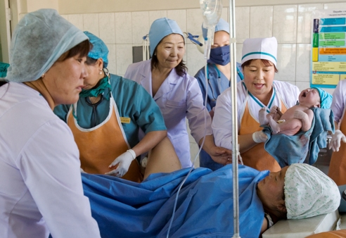 Maternity ward in Khovd aimag, Mongolia