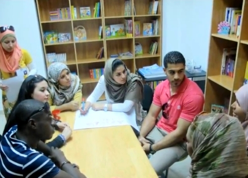 Teenagers from the Libya Youth Center in Tripoli