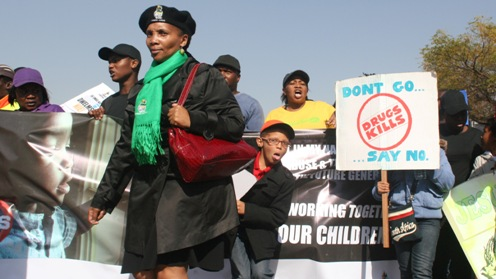 """""""Stop Drugs!"""" rally in Johannesburg, South Africa"""