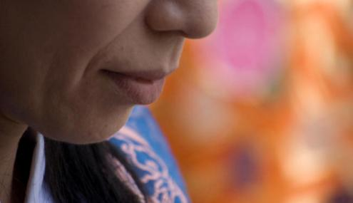 China woman close-up