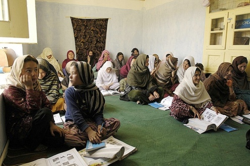 United Nations literacy class for Afghan women and girls 2009
