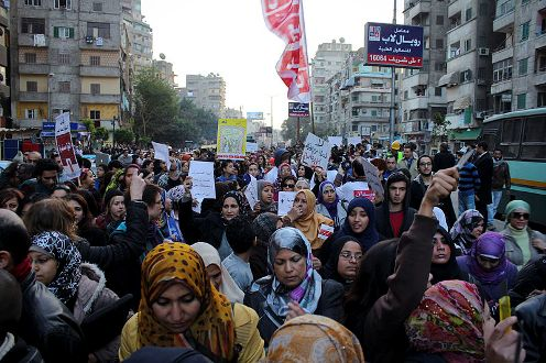 Rally to stop sexual harassment, Cairo, Egypt March 11, 2013