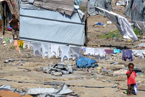 IDP - Internally Displaced Camp Port-Au-Prince, Haiti April 2013