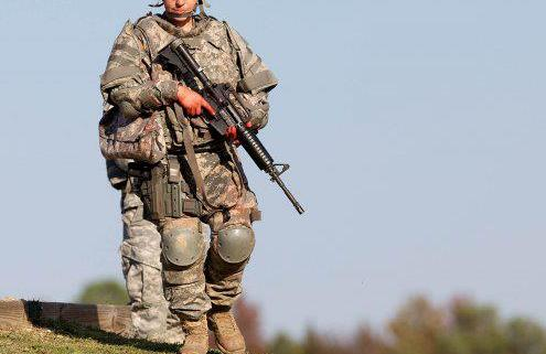 U.S. woman infantry soldier
