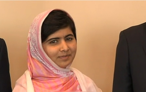 Pakistani education hero Malala Yousafzai at the United Nations, July 12, 2013