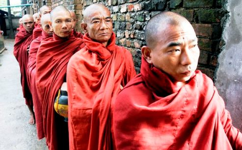 Buddhist Monks in Burma/Myanmar