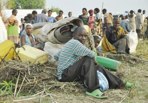 DRC displaced families in Uganda