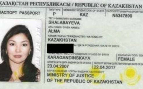 Alma Shalabayeva's passport