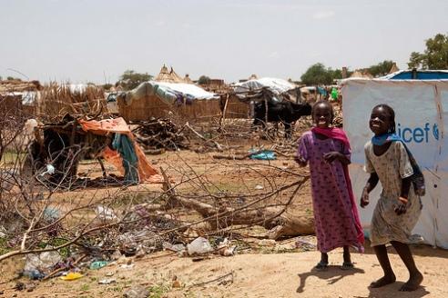 Displaced children Darfur