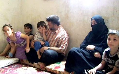 Displaced Syrian family in Lebanon