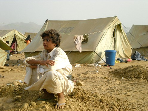 Young Yemeni boy at IDP camp