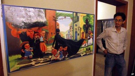Burka Avenger painting
