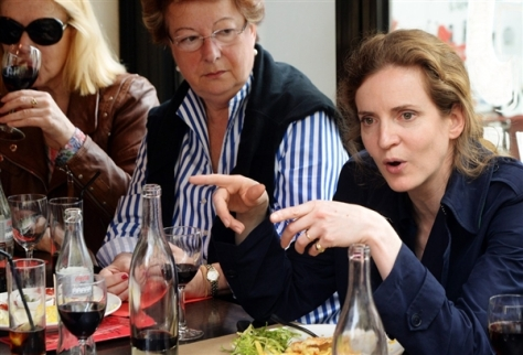 Nathalie Kosciusko-Morizet talking over lunch/dinner