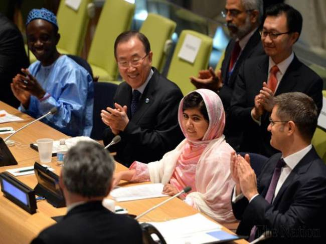 Malala at UN