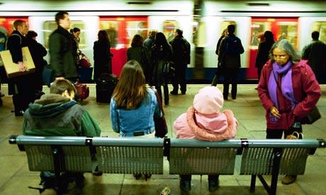 Women on London underground
