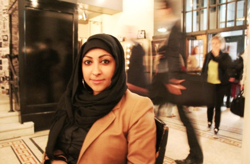 Maryam Al Kahwaja traveling in the U.S. in April 2011