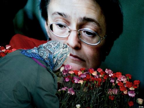 Memorial for slain woman journalist Anna Politkovskaya