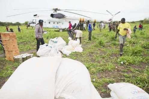 UNHCR - United Nations Refugee Agency airlift into South Sudan
