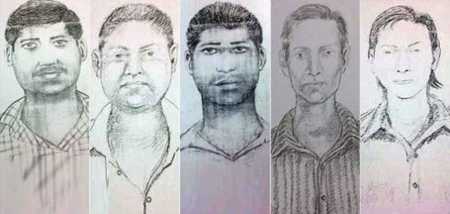 Mumbai police sketches of rape assailants in raped photojournalist case